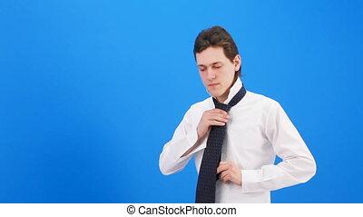 Man wears a tie