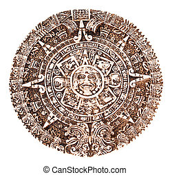 Mayan calendar isolated on the white background