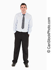 Business manager posing