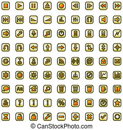 Internet and website icons set
