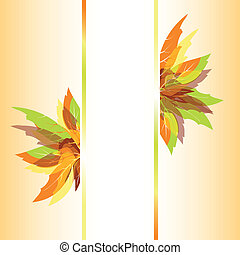 Abstract autumn leaves background