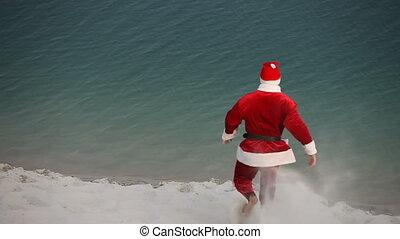 Bathing Santa