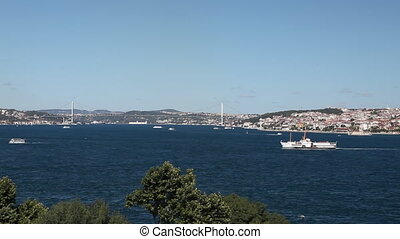 bosphorus scene - Bosphorus with Sea Traffic, shoot Canon 5D...