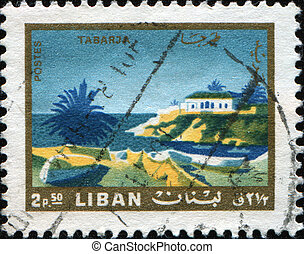 LEBANON - CIRCA 1966: A stamp printed in Lebanon shows...
