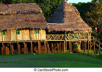 Indian community in Peruvian Amazon