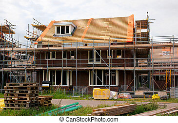 Home construction - Real estate house construction in the...