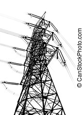 Tall High Voltage Power Mast
