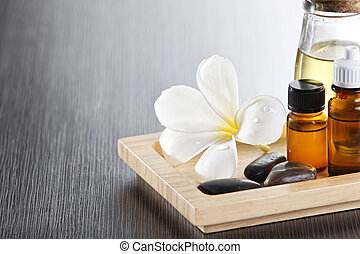 spa - still shot of the flower with essential oil