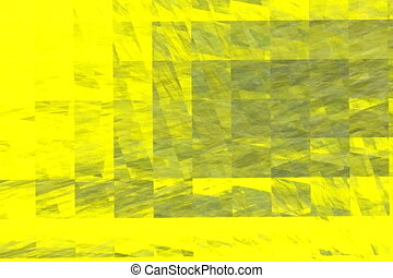 yellow squares and rotating shadows, seamless loop animated...