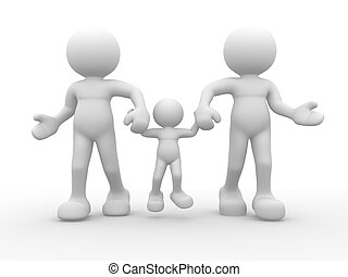 Family - 3d people -human character - family happy This is a...