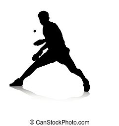 Table Tennis Player - An abstract vector illustration of a...