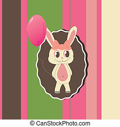 Greeting card with cute bunny