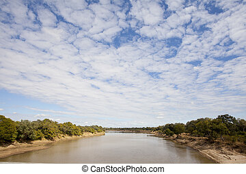 South Luangwa - Landscape view of the south luangwa river in...