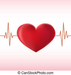 pulse heart - heart pulse illustration