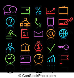 icons set - Vector set of original business icons