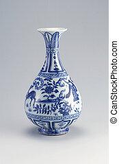 vase - chinese antique vase on the plain back ground