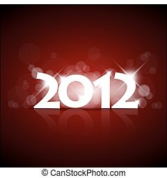 Vector New Year card 2012 with back light and place for your...