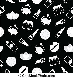 Elegant retro seamless Cosmetics pattern or background -...