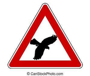 Bird swoop warning sign