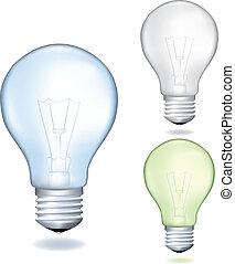 Set of a light bulbs