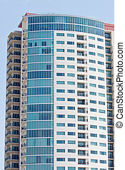 Colorful High Rise Condo Tower