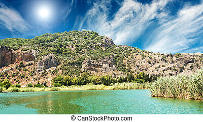 Tombs of the Lycian near the Dalyan river - Lykian rock...