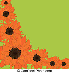 Abstract sunflower background - Abstract vector sunflower...