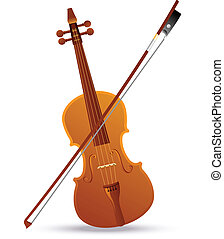 Baroque Violin - Vector illustration of a baroque violin