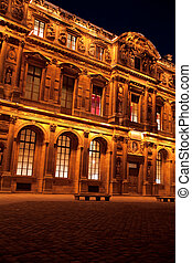 Night view of The Louvre Palace, Paris, France