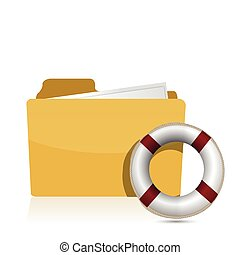 Folder icon with lifesaver
