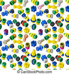 Seamless texture - toy nuts and bolts