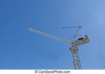 White Tower Crane - A White Tower Crane of a city...