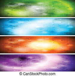 Vibrant banners collection