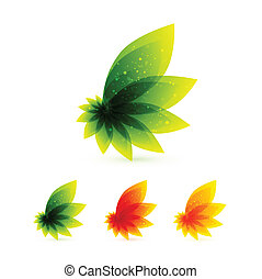 Vector orange leaves - Vector illustration for your design
