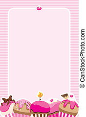 Cupcake Girls Invite/Menu - Pretty pink invitation design...