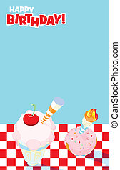 Picnic Party Invitation Design - Illustrated invitation...