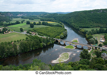 Dordogne River - Dordogne river in France