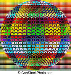 Abstract sphere - Abstract artistic sphere as contemporary...