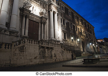Baroque church in Catania Sicily Italy, San Francesco Borgia...