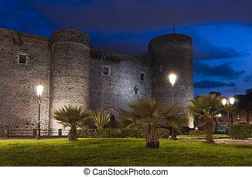 Ursino castle in Catania Sicily Italy built in 13th century