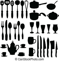 kitchenware elements - vector
