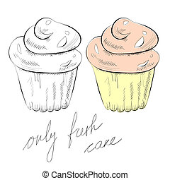 Cupcake - Illustration of cupcake