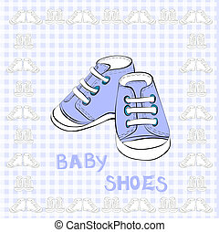 Illustration of a pair blue shoes