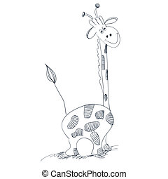 Giraffe - Illustration of giraffe