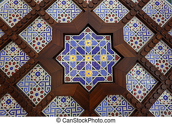 Oriental mosaic decoration in Dubai, United Arab Emriates