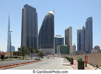 City street in Dubai, United Arab Emirates