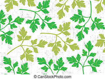Parsley background on white. - Parsley wallpaper vertical on...