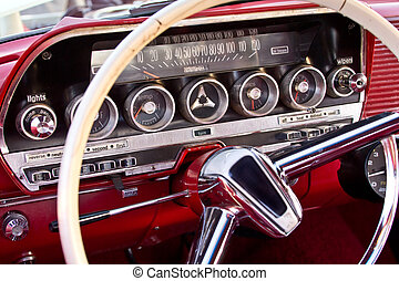 Classic car - The Interior of a classic collectors car
