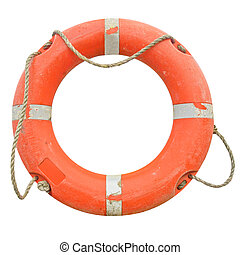 Lifebuoy - A life buoy for safety at sea - isolated over...