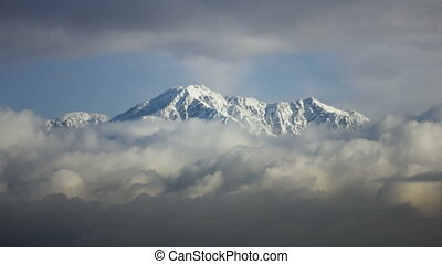 TLP-0001 snowy mtn - This is a time lapse shot of Mt Baldy...